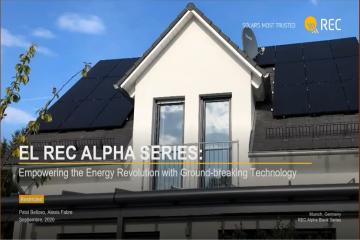 Panel solar REC Alpha