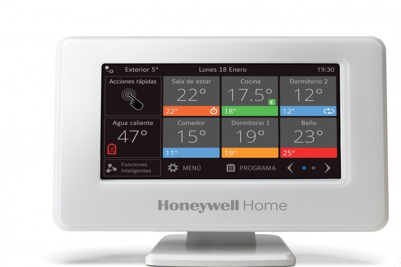 Honeywell Home : Evohome evolucionado – Sistema de control de zonas, con control frío/calor y compatible con bombas de calor