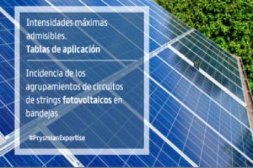Incidencia de los agrupamientos de circuitos de strings fotovoltaicos en bandejas.